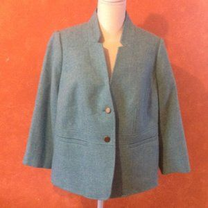 *2for$5 Talbots Blue Wool Jacket Sz. 14 Petite